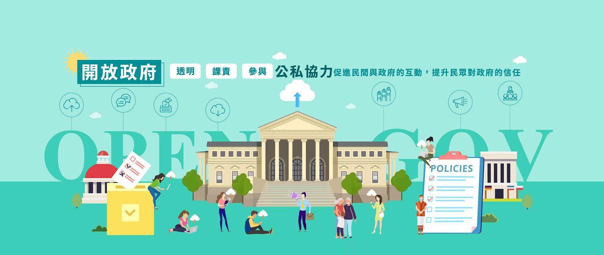 公私協力共創透明、課責、參與的政府