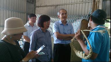 曾副主委一行人訪視臺東橄欖葉合作農場