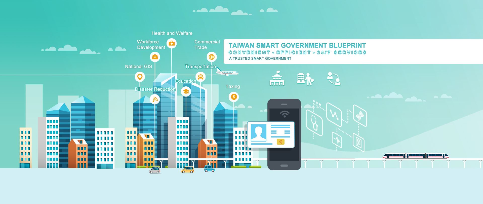 "The core idea of planning Smart Government is ""Based on data, establish a public-private governance model for the next stage to increase the trust between government and people""."
