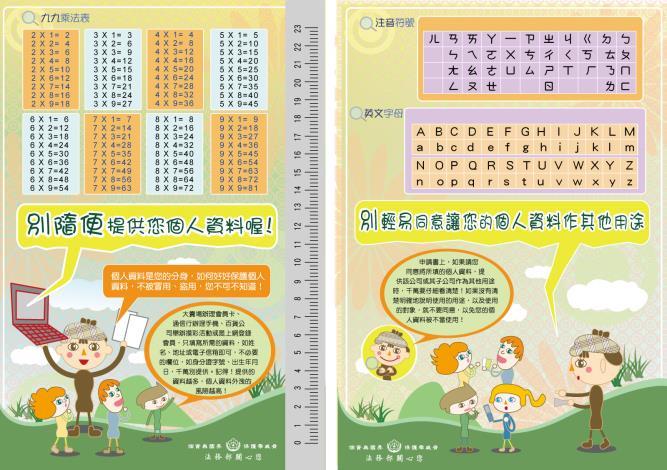 【宣導】個人資料保護小學生宣導墊板(共2張)_2